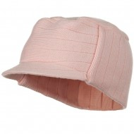 Knitting MG Military Beanie Visor - Pink