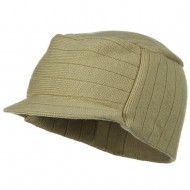 Knitting MG Military Beanie Visor - Camel