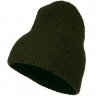 Big Stretch Waffle Stitch Short Beanie - Olive
