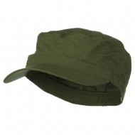 Big Size Fitted Cotton Ripstop Military Army Cap - Olive
