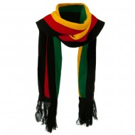 New Rasta Scarf - Black RGY