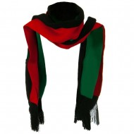 New Rasta Scarf - Green Black Red