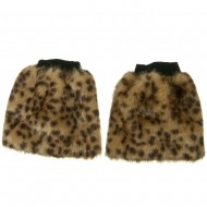 Critter Faux Fur Leg Warmer - Cheetah