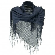 Over sized Viscose Square Scarf - Grey