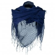 Over sized Viscose Square Scarf - Navy