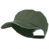 New Big Size Washed Cotton Ball Cap - Olive