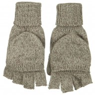 Fingerless Flip Top Glove-Oatmeal