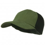 Big Size Summer Twill Mesh Flexible Fitted Cap - Olive Green