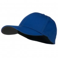 Structured Brushed Twill Flexible Big Size Cap - Royal