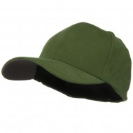 Structured Brushed Twill Flexible Big Size Cap - Olive