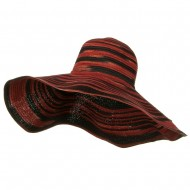 Two Tone Big Brim Hat - Red Combo