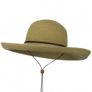 UPF 50+ Cotton Paper Braid Kettle Brim Hat - Tan Tweed