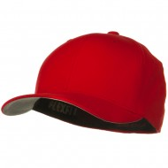 Brushed Twill Flexfit Cap - Red