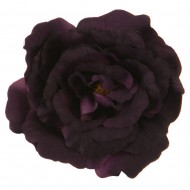 Rose King Size Pin and Clip - Dark Purple