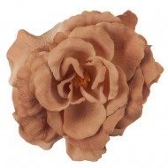Rose King Size Pin and Clip - Light Brown