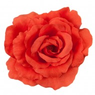 Rose King Size Pin and Clip - Coral