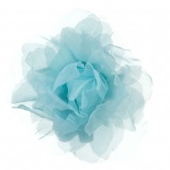 Sheer Rose King Size Pin and Clip - Light Blue