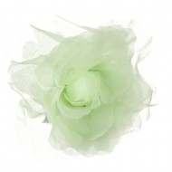 Sheer Rose King Size Pin and Clip - Light Green