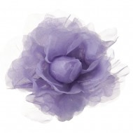 Sheer Rose King Size Pin and Clip - Light Lilac
