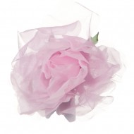 Sheer Rose King Size Pin and Clip - Light Pink