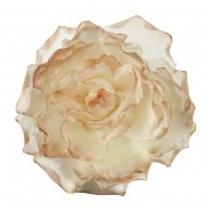 Large Open Rose Silk Two Tone Clip and Pin - Taupe