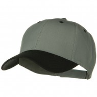 Two Tone Cotton Twill Low Profile Strap Cap - Black Grey