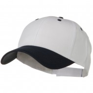 Two Tone Cotton Twill Low Profile Strap Cap - Navy White