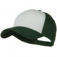 Two Tone Cotton Twill Low Profile Strap Cap - Dark Green White Dark Green