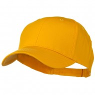 Solid Cotton Twill Low Profile Strap Cap - Gold
