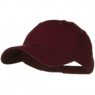 Solid Cotton Twill Low Profile Strap Cap - Maroon