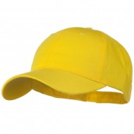 Solid Cotton Twill Low Profile Strap Cap - Yellow