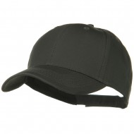 Solid Cotton Twill Low Profile Strap Cap - Charcoal