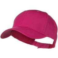 Solid Cotton Twill Low Profile Strap Cap - Hot Pink