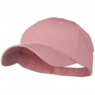 Solid Cotton Twill Low Profile Strap Cap - Pink