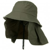 UV 50+ Talson Removable Flap UV Bucket Hat - Olive