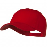 Solid Cotton Twill Low Profile Snap Cap - Red