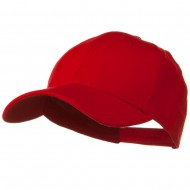 Comfy Cotton Jersey Knit Low Profile Strap Cap - Red