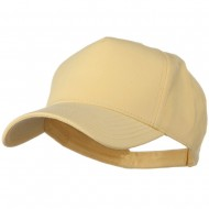 Comfy Cotton Jersey Knit 5 Panel Cap - Soft Yellow