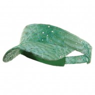 Multi Color Animal Print Visor - Lime
