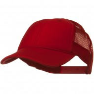 Solid Polyester Foam Front Mesh Back Cap - Red