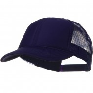 Solid Polyester Foam Front Mesh Back Cap - Purple