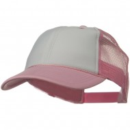 Two Tone Polyester Foam Front Mesh Back Cap - Pink White Pink