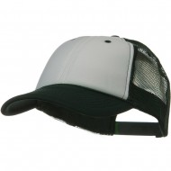 Two Tone Polyester Foam Front Mesh Back Cap - Green White Green