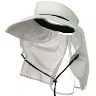 UV 50+ Talson Visor with Flap - White