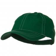 Contra Stitch Washed Polo Cap - Kelly White
