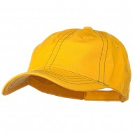 Contra Stitch Washed Polo Cap - Yellow Kelly