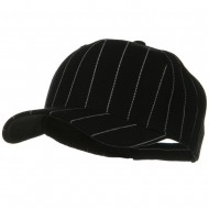Pin Striped Adjustable Baseball Cap - Black