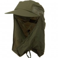 Removable Flap Hat-Fossil