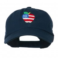 Apple American Flag Embroidered Cap - Navy