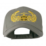Air Assault Air Force Badge Outline Embroidered Cap - Olive
